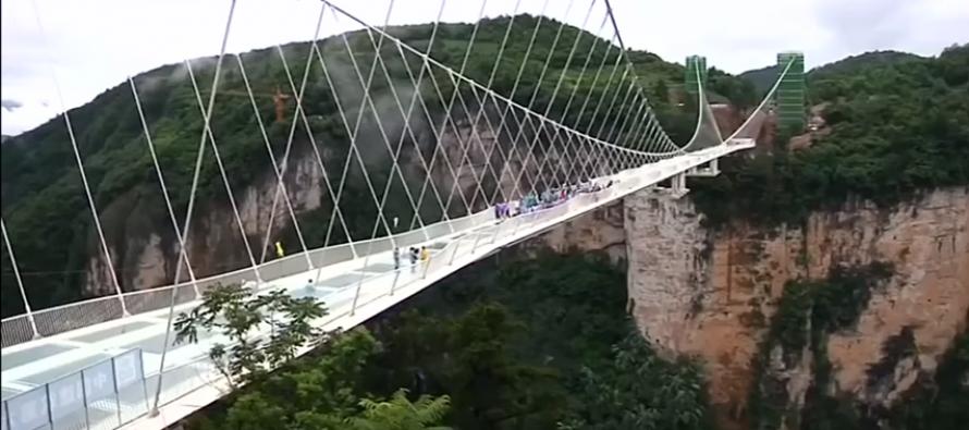 Otvoren najduži stakleni most na svijetu
