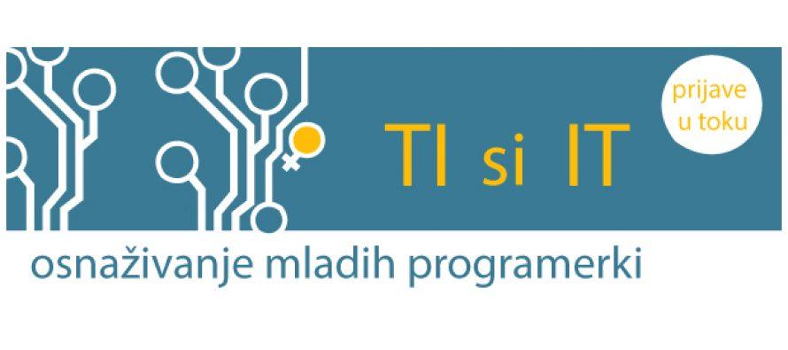 """Serija edukacija za mlade programerke """"Ti si IT"""""""